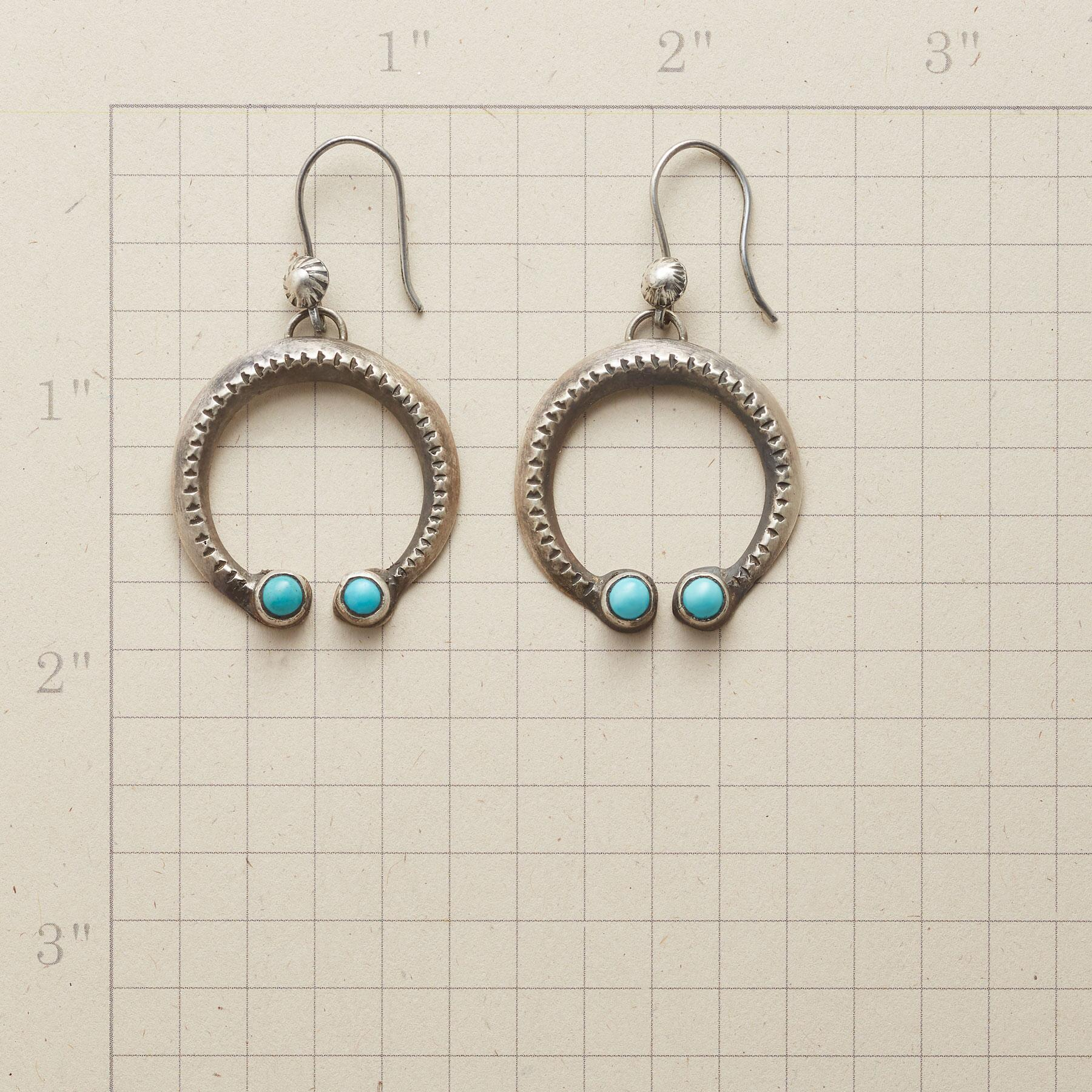 CHEYENNE TURQUOISE NAJA EARRINGS: View 2