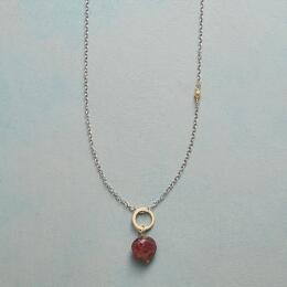 FAITHFUL HEART BIRTHSTONE NECKLACE
