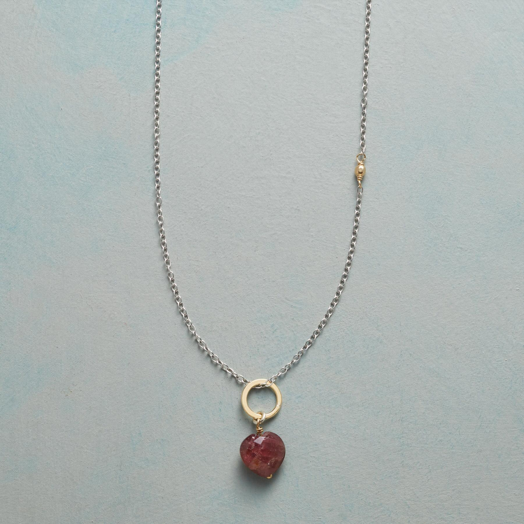 FAITHFUL HEART BIRTHSTONE NECKLACE: View 1