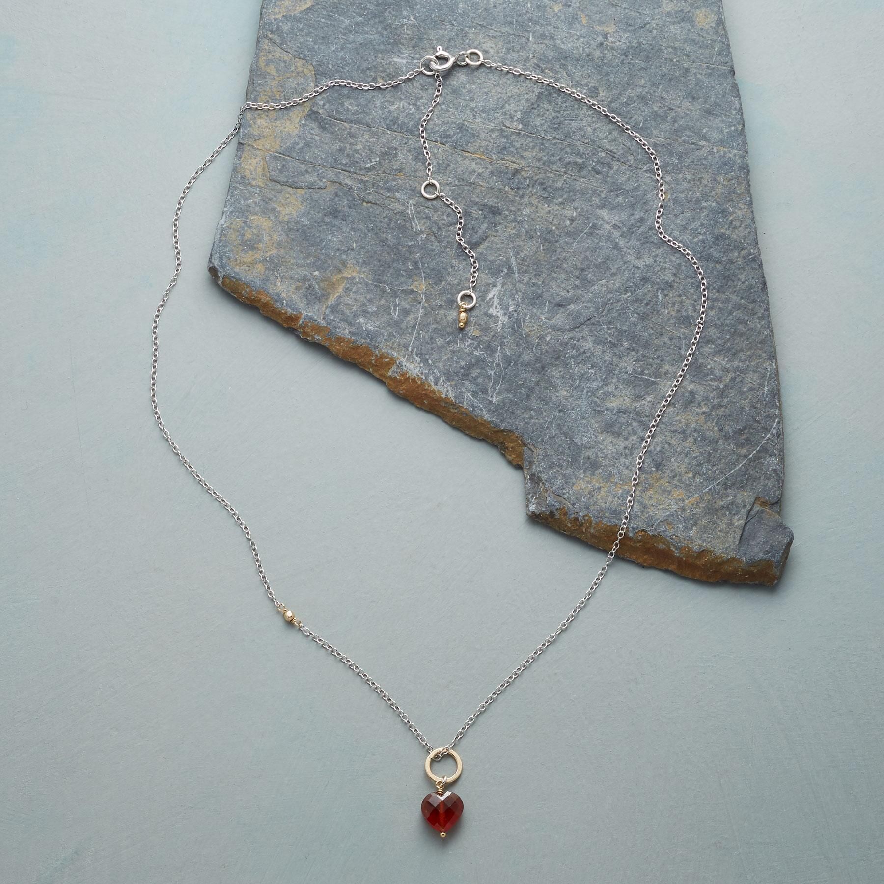 FAITHFUL HEART BIRTHSTONE NECKLACE: View 2
