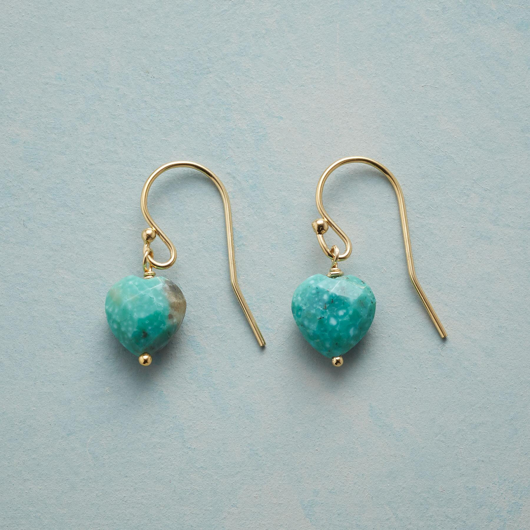 FAITHFUL HEART BIRTHSTONE EARRINGS: View 1