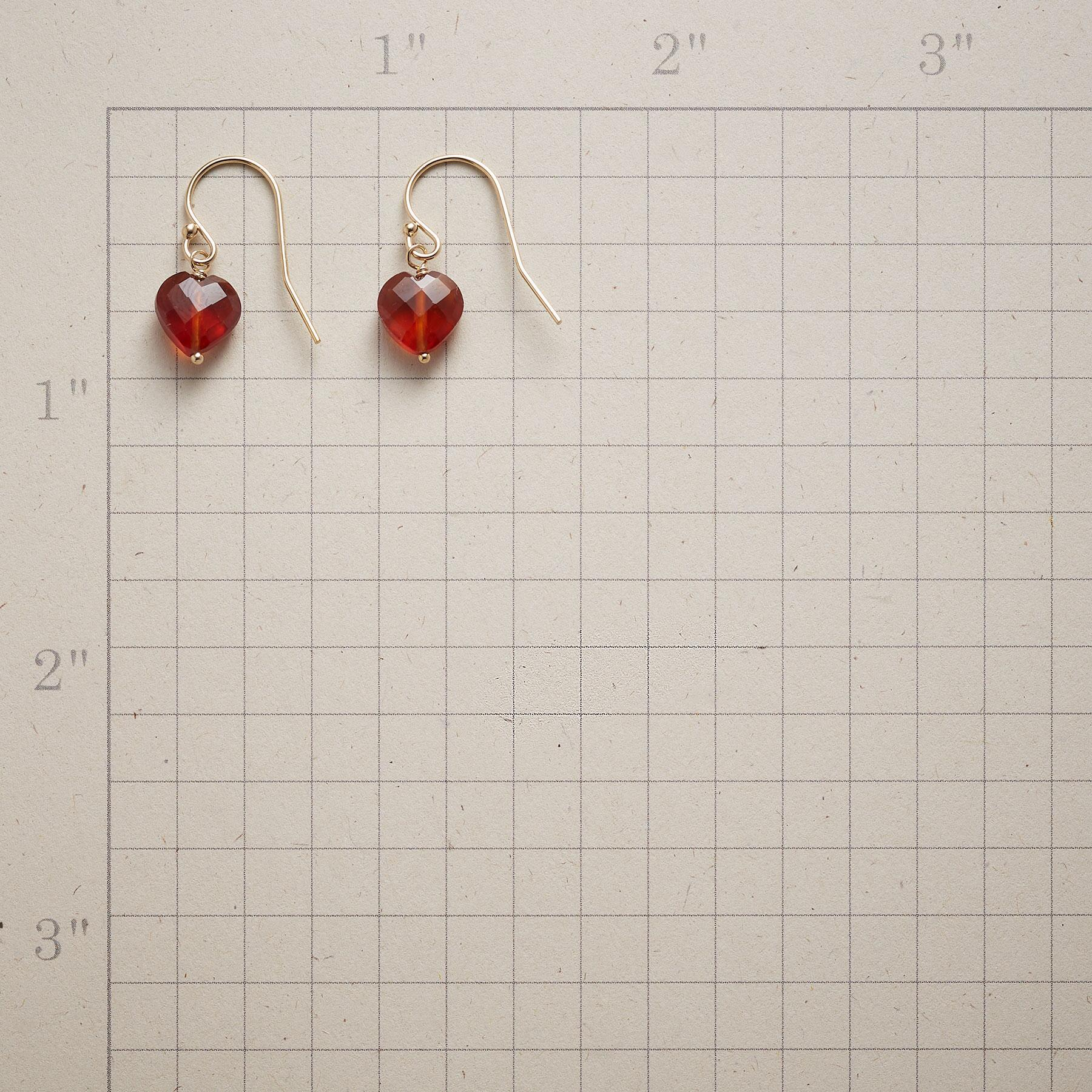 FAITHFUL HEART BIRTHSTONE EARRINGS: View 2