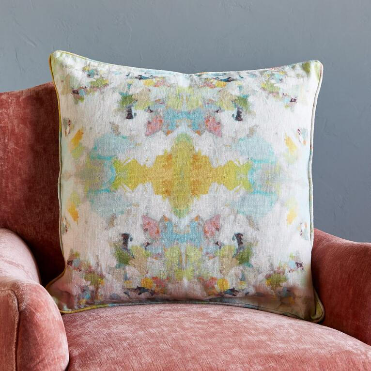 ARTIST PALETTE MIRAGE LINEN PILLOW