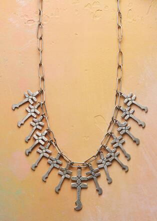 PUEBLO CROSSES NECKLACE