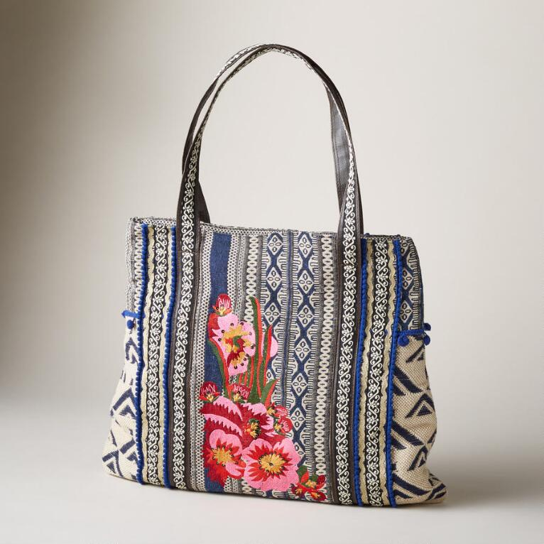 ROCKY BLOOMS TOTE