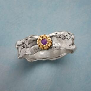 ROUGH SEAS AMETHYST RING