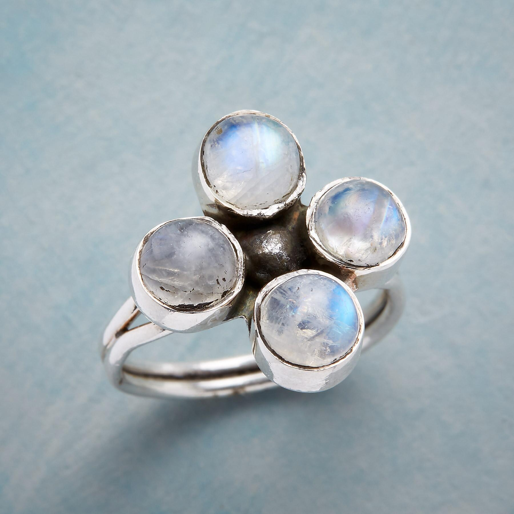 MOONSTONE QUARTET RING: View 1