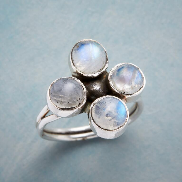 MOONSTONE QUARTET RING
