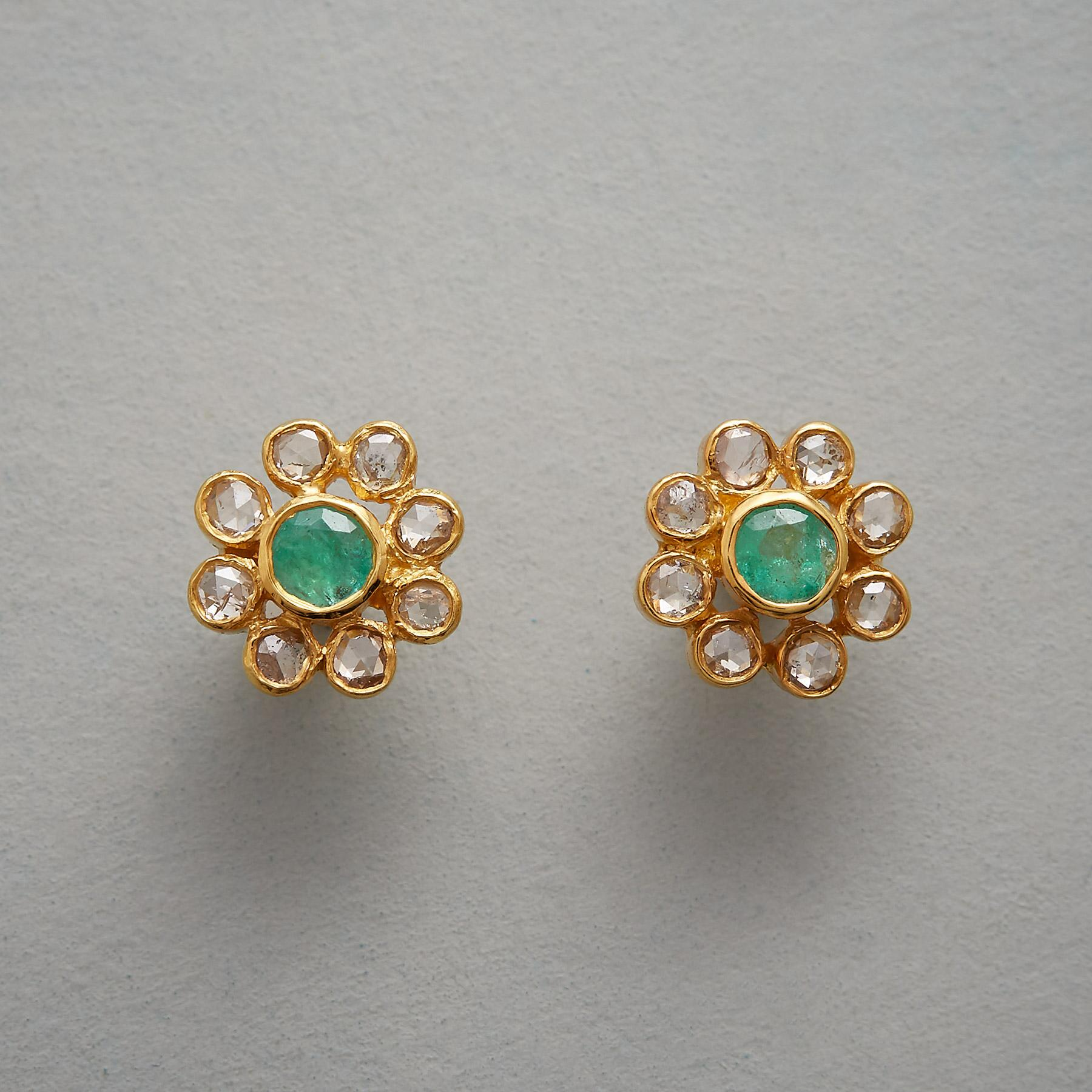 EMERALD PISTIL EARRINGS: View 1