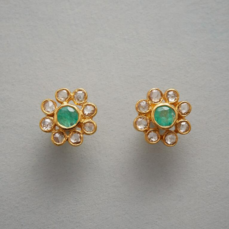 EMERALD PISTIL EARRINGS