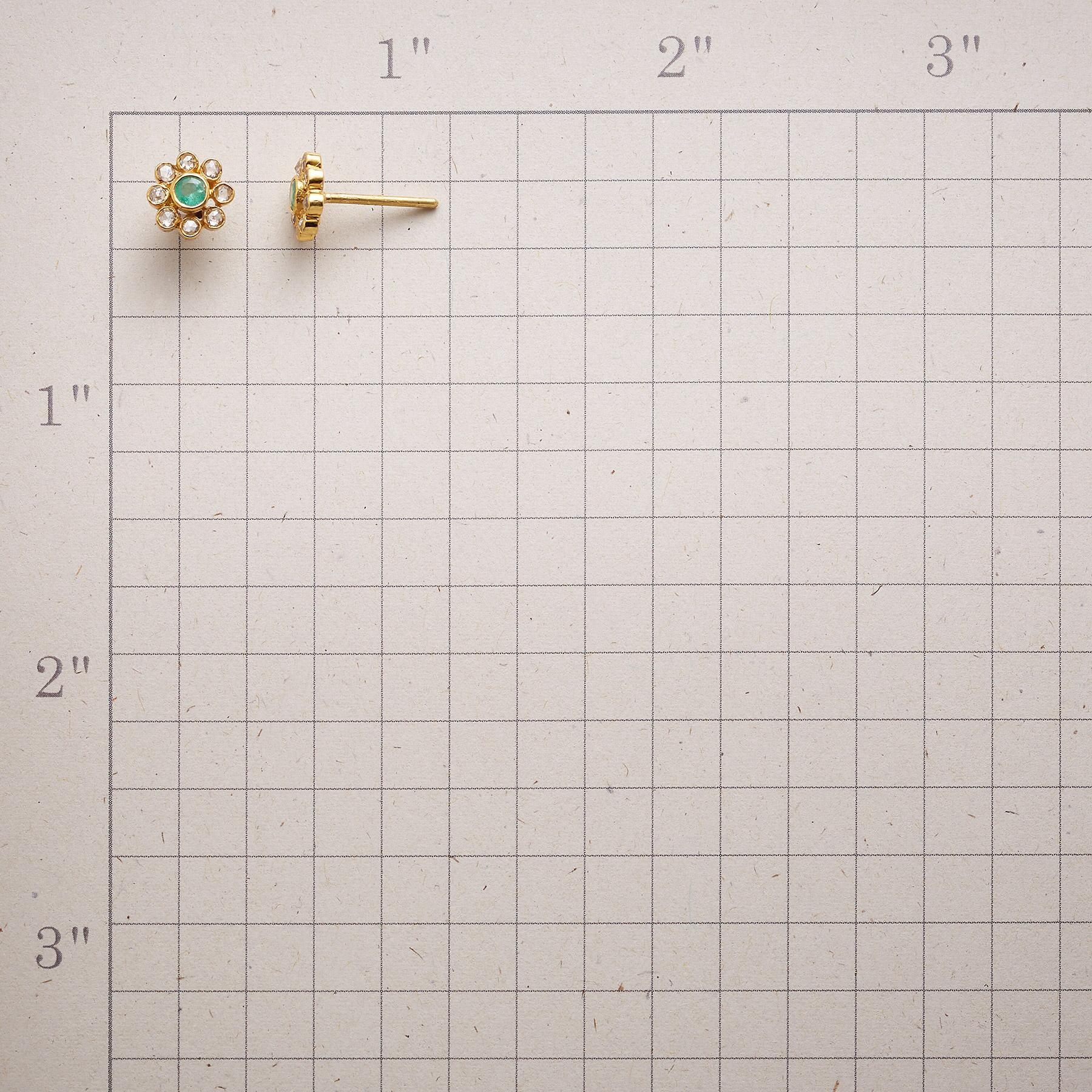 EMERALD PISTIL EARRINGS: View 2