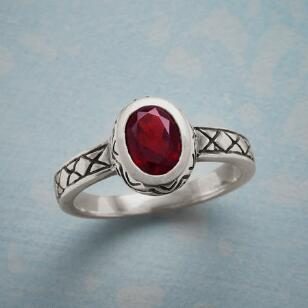 RED HIBISCUS RING