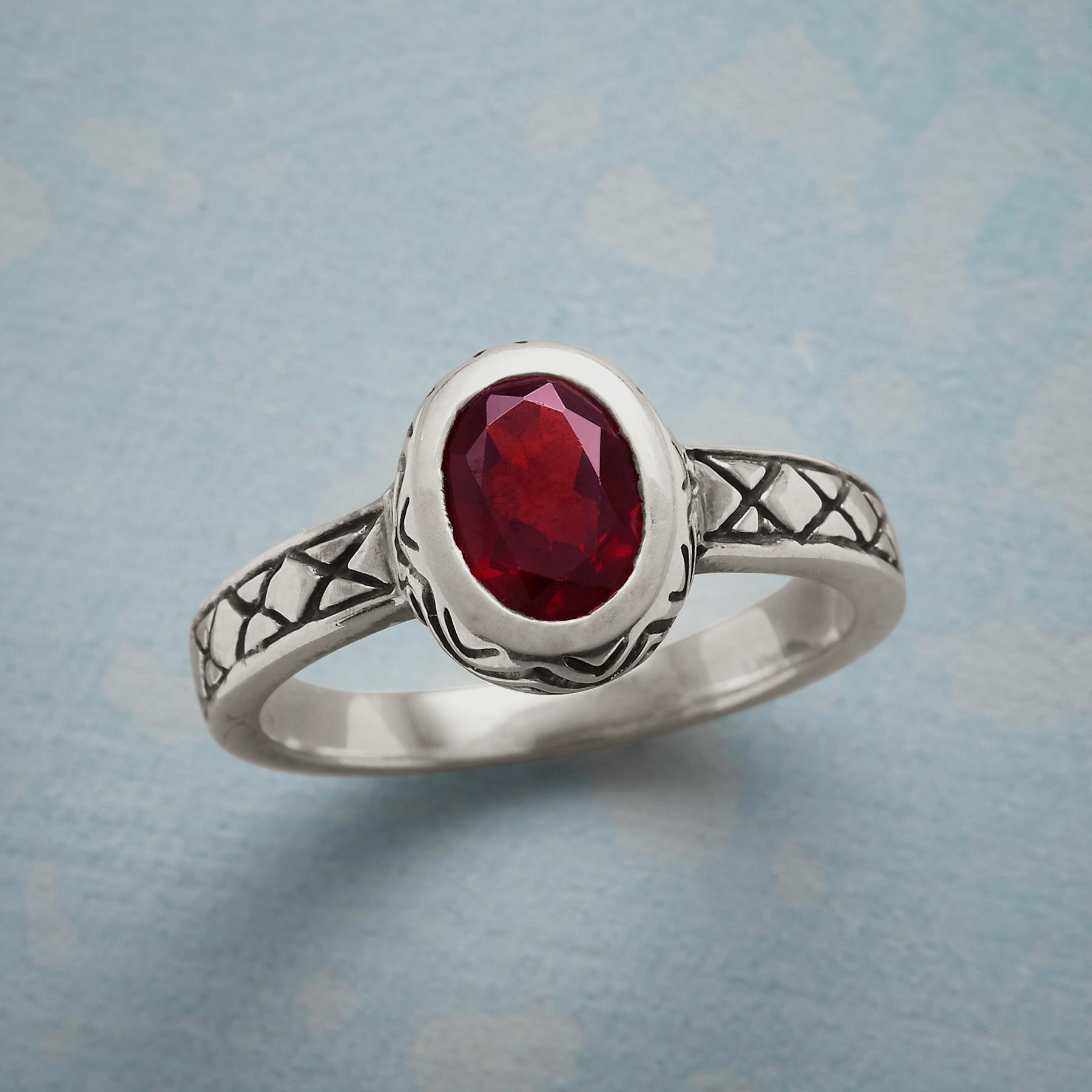 RED HIBISCUS RING: View 1