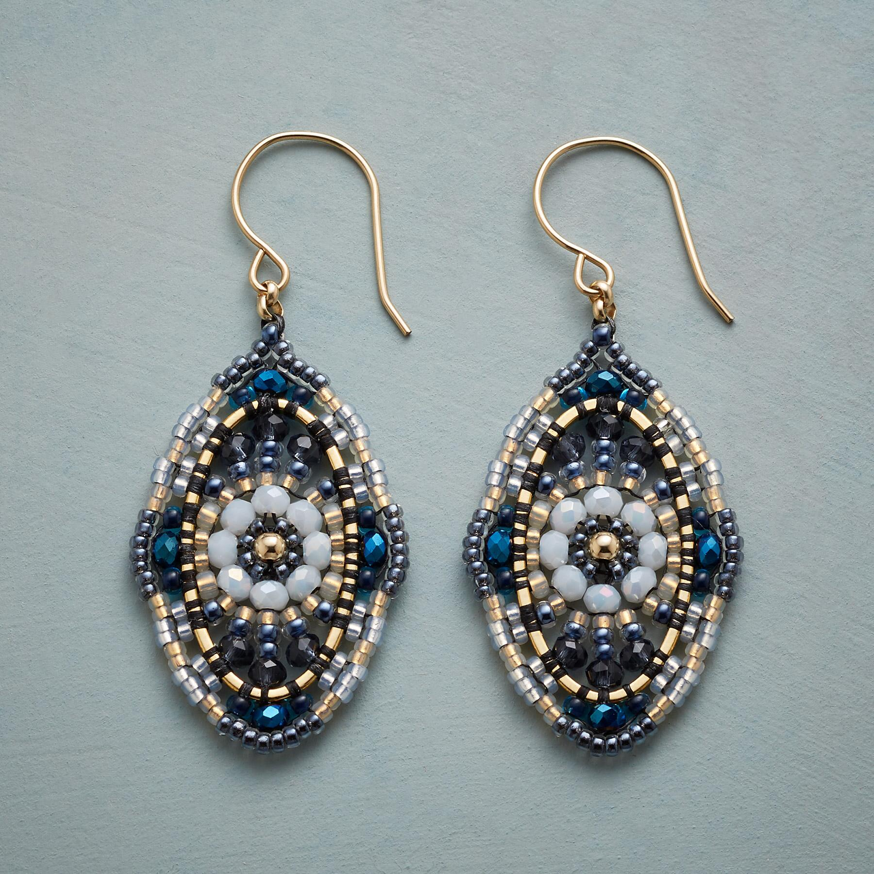 BLUE BOHEMIAN EARRINGS: View 1