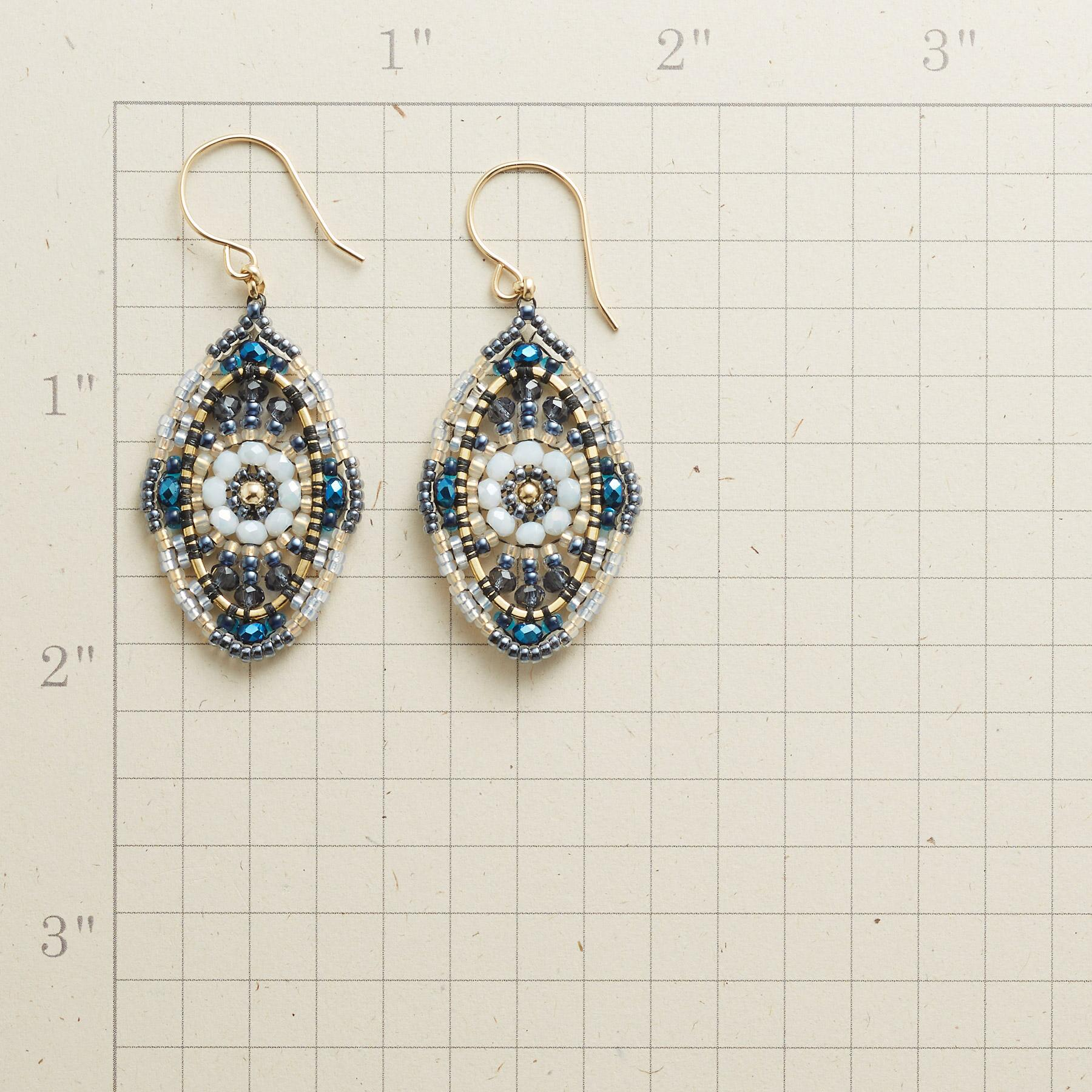 BLUE BOHEMIAN EARRINGS: View 2