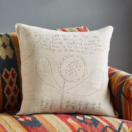 STONEWASH LINEN TWO WAYS TO LIVE PILLOW