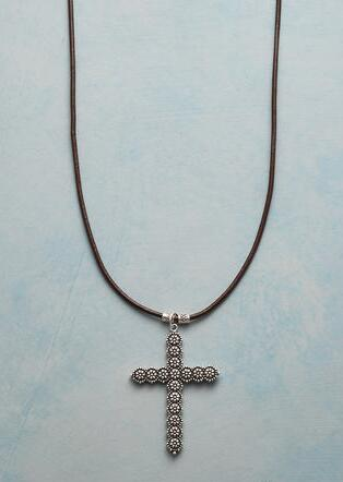 DAISY CROSS NECKLACE