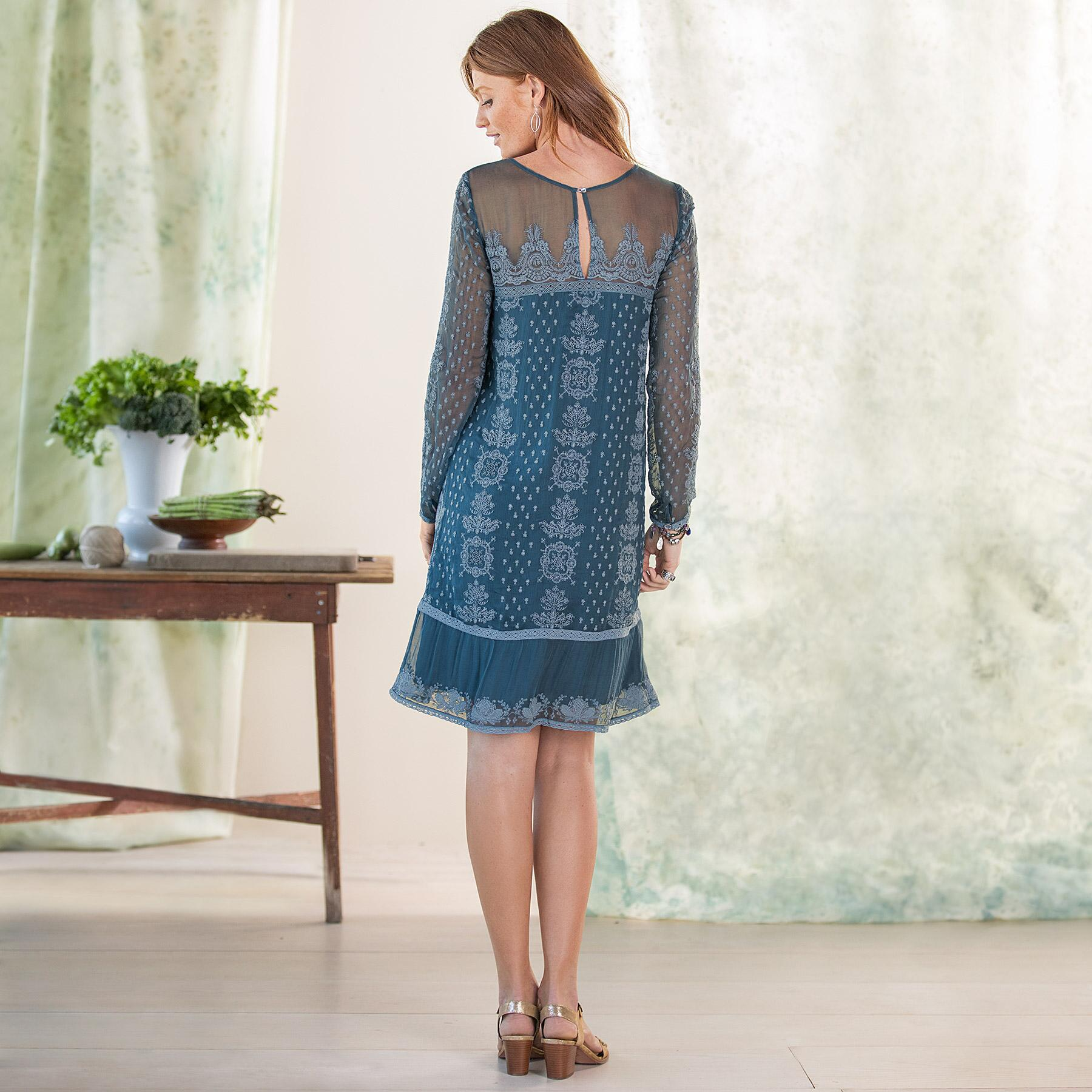SHELBY EMBROIDERED DRESS: View 2