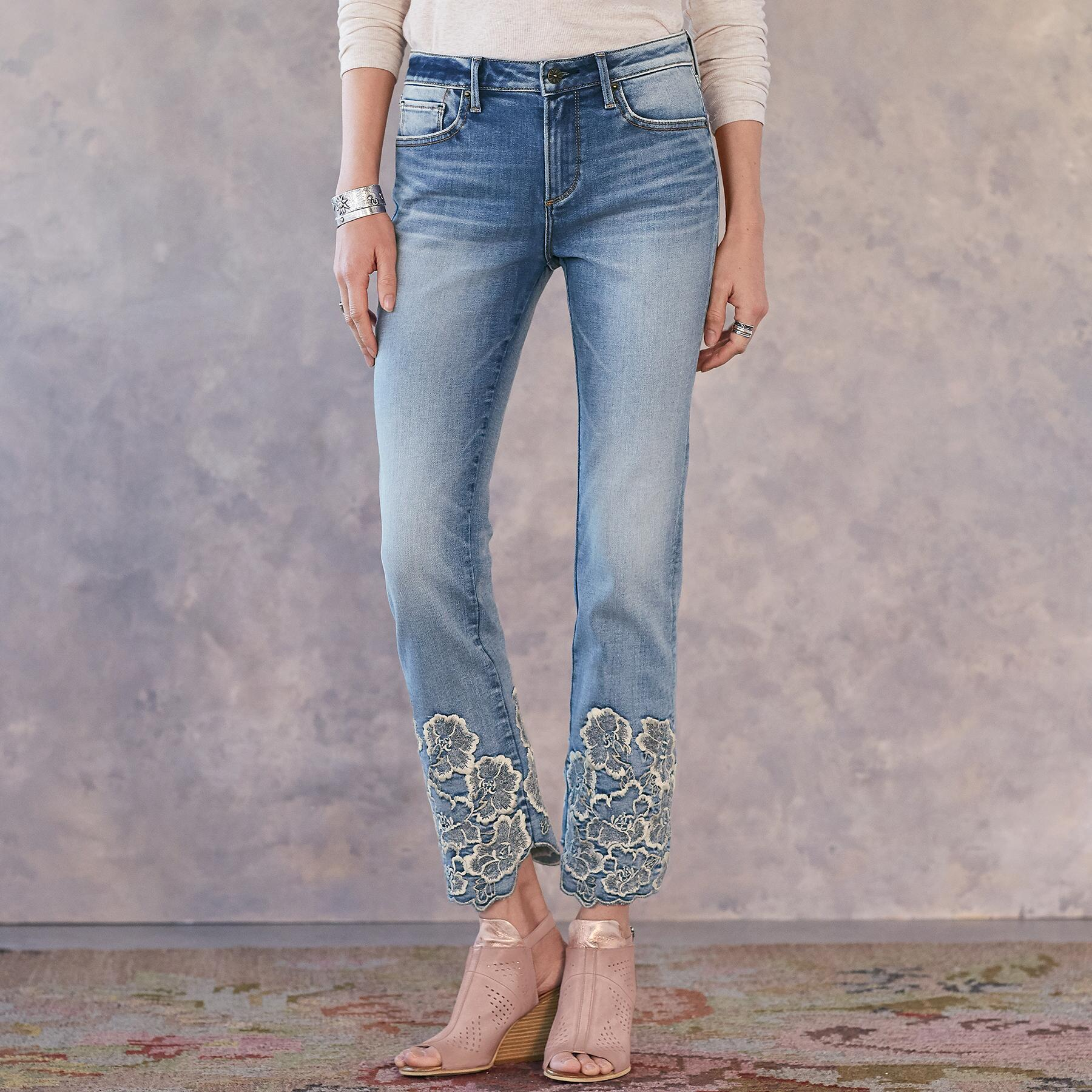 COLETTE PRESSED FLOWERS JEANS: View 1