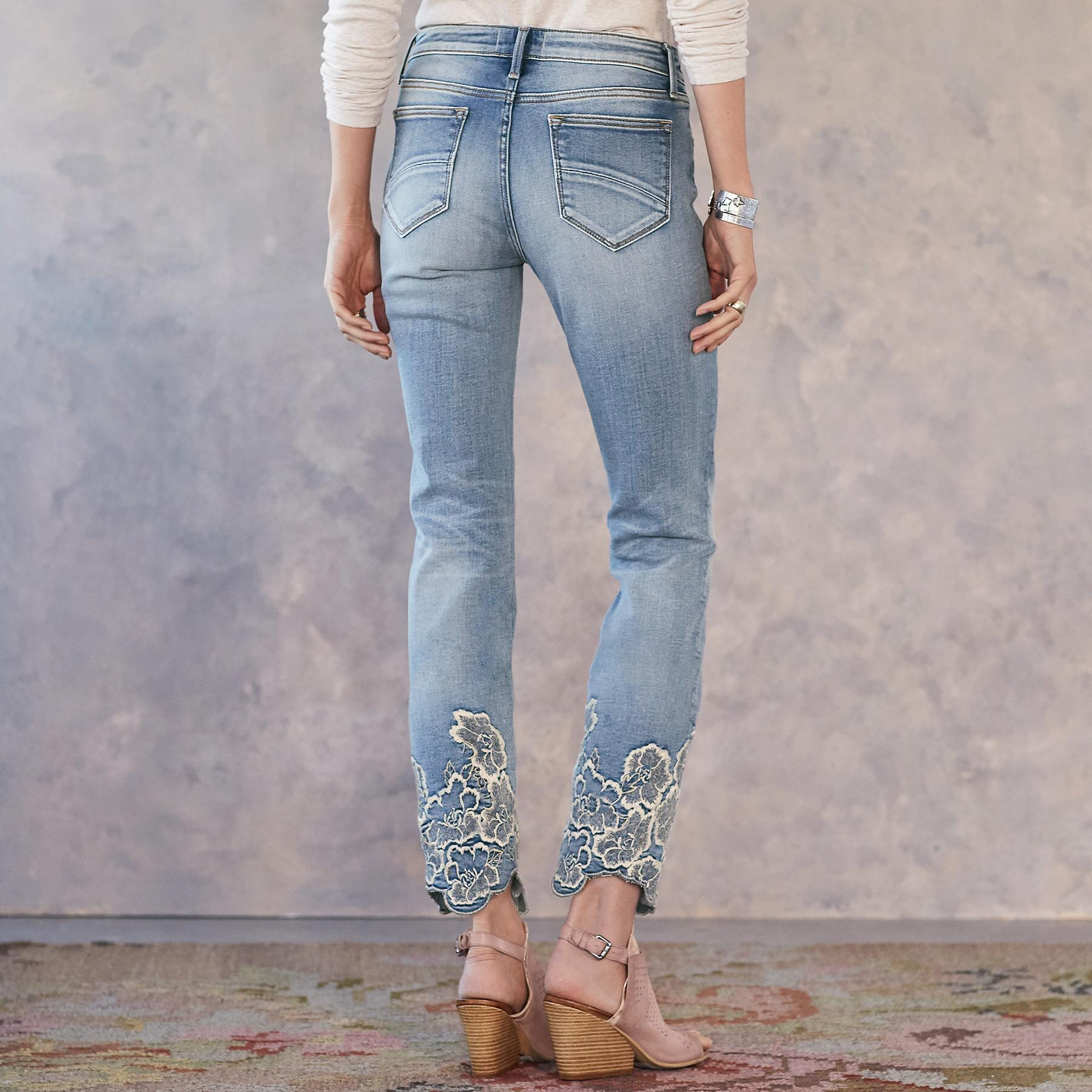 COLETTE PRESSED FLOWERS JEANS: View 2