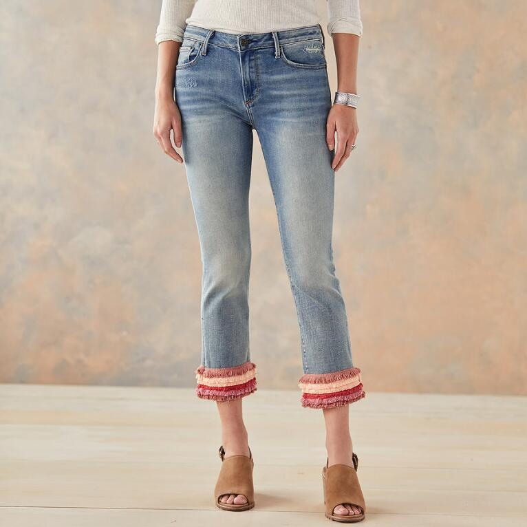 COLETTE PRETTY IN FRINGE JEANS
