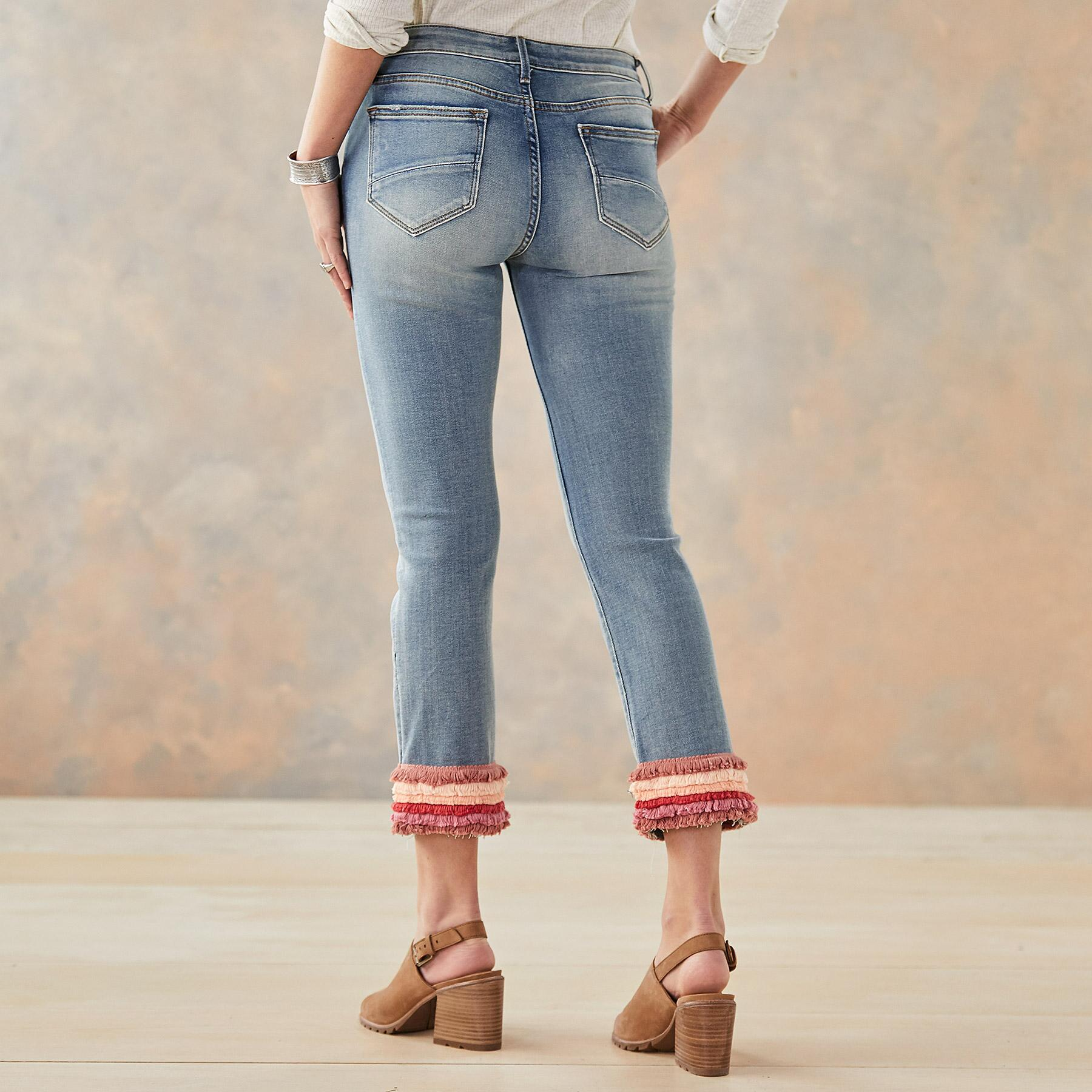 COLETTE PRETTY IN FRINGE JEANS: View 2