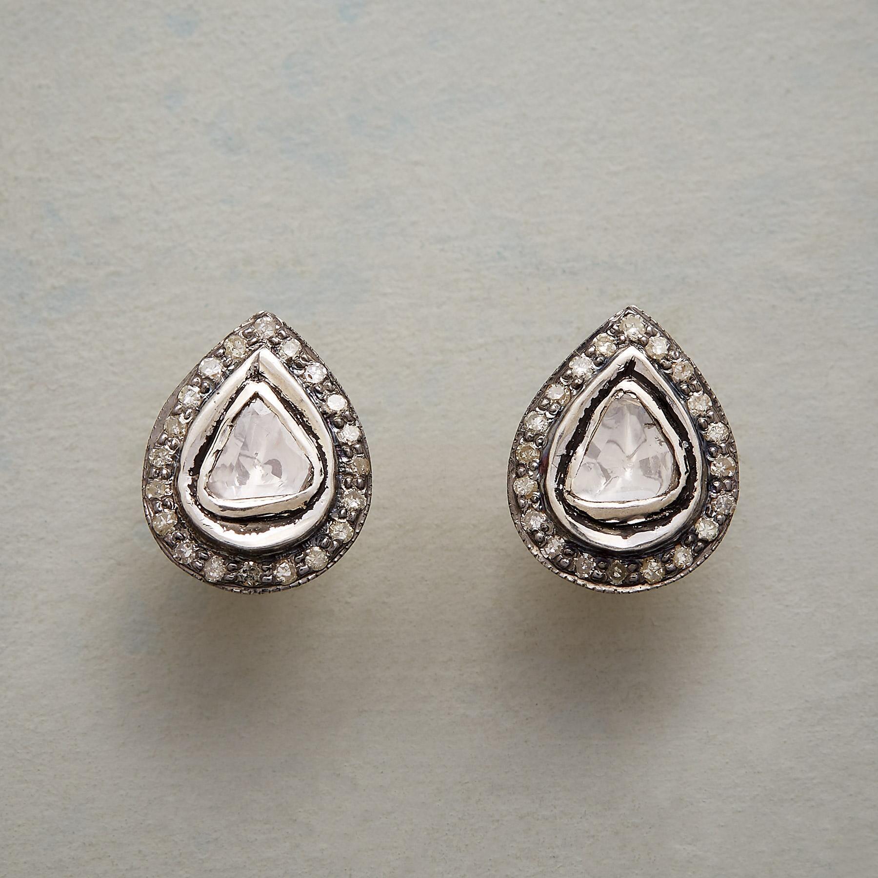 LODESTAR DIAMOND EARRINGS: View 1