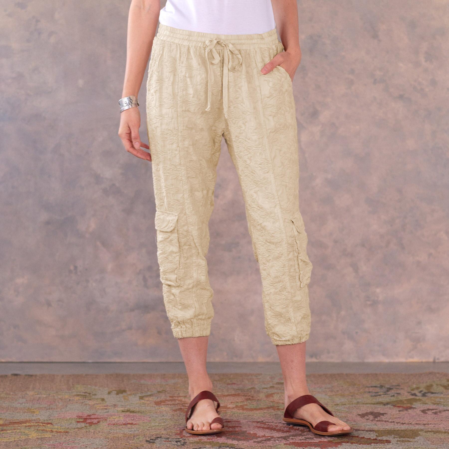 BLYTHE EYELET PANTS: View 1