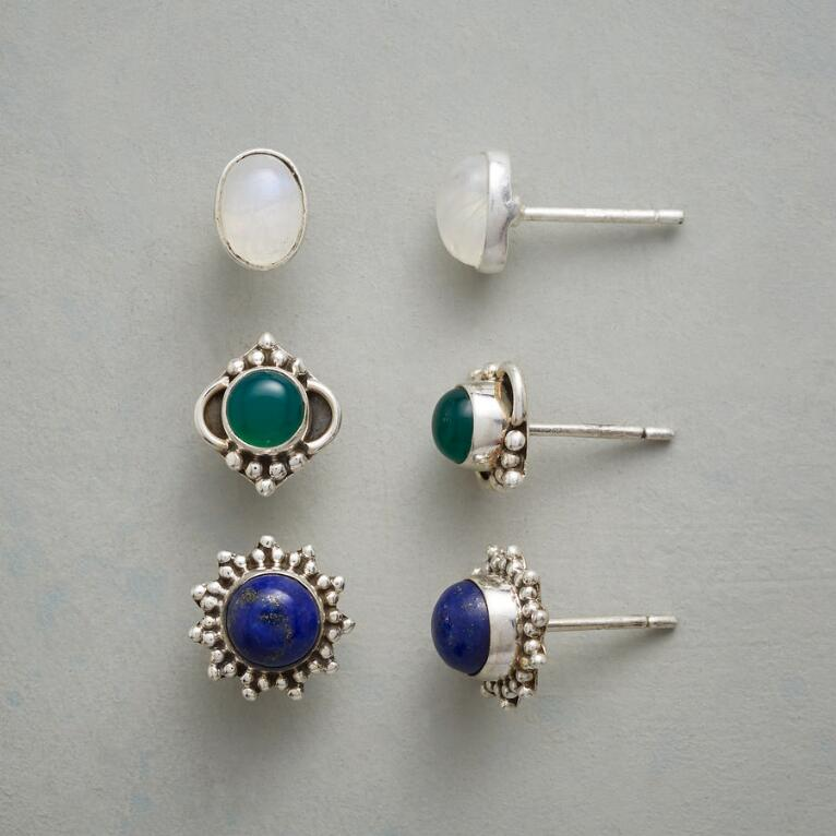 LAND & SKY EARRING TRIO