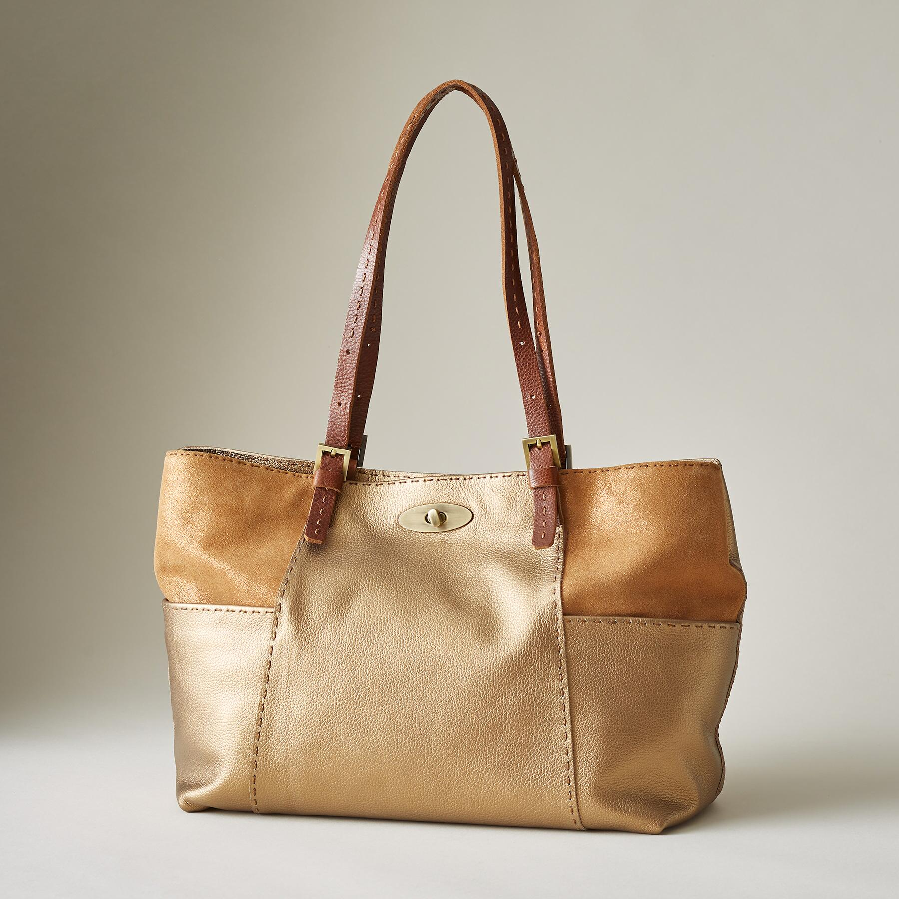 DUNE LEATHER TOTE: View 1