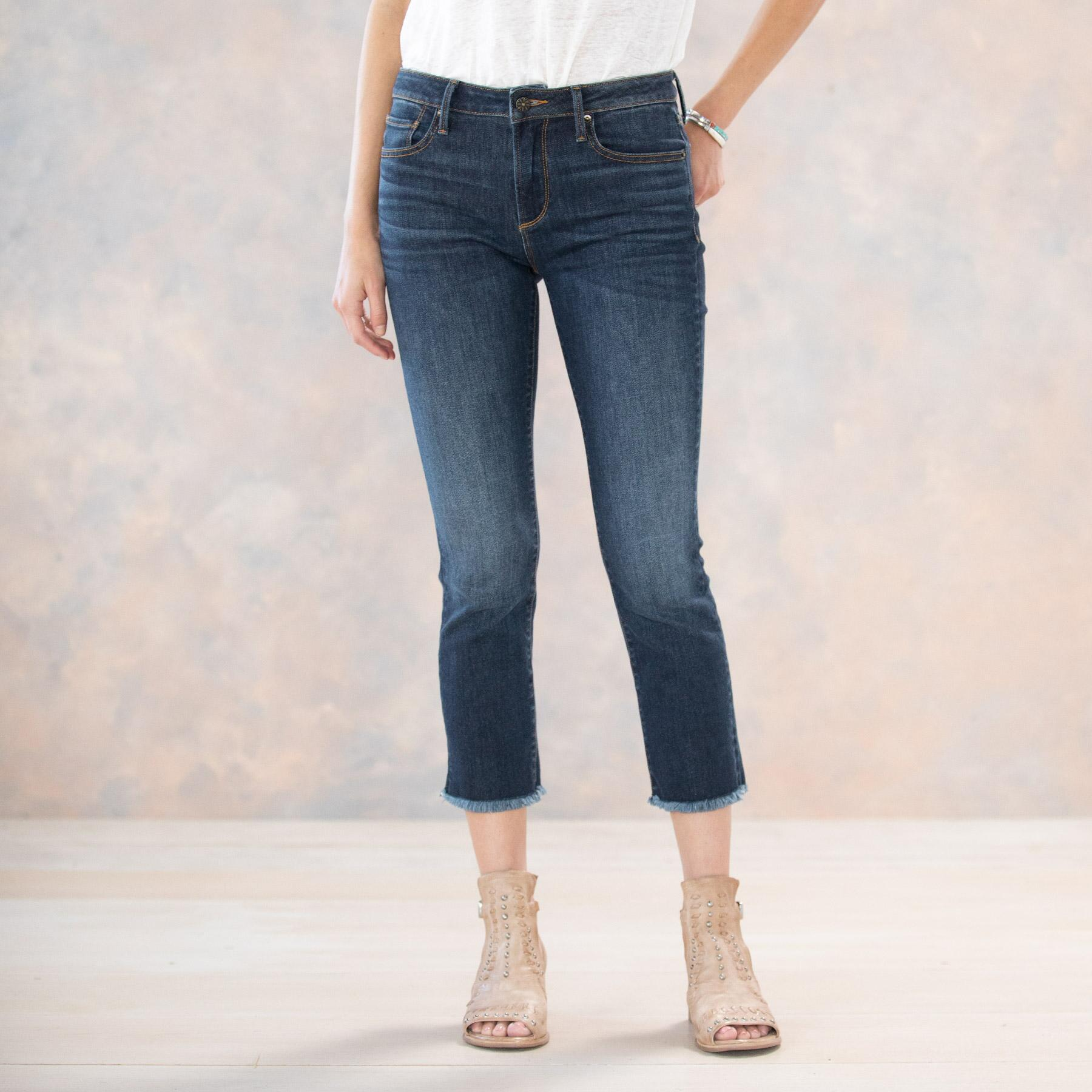 CANDACE BASIC CROP JEANS: View 2