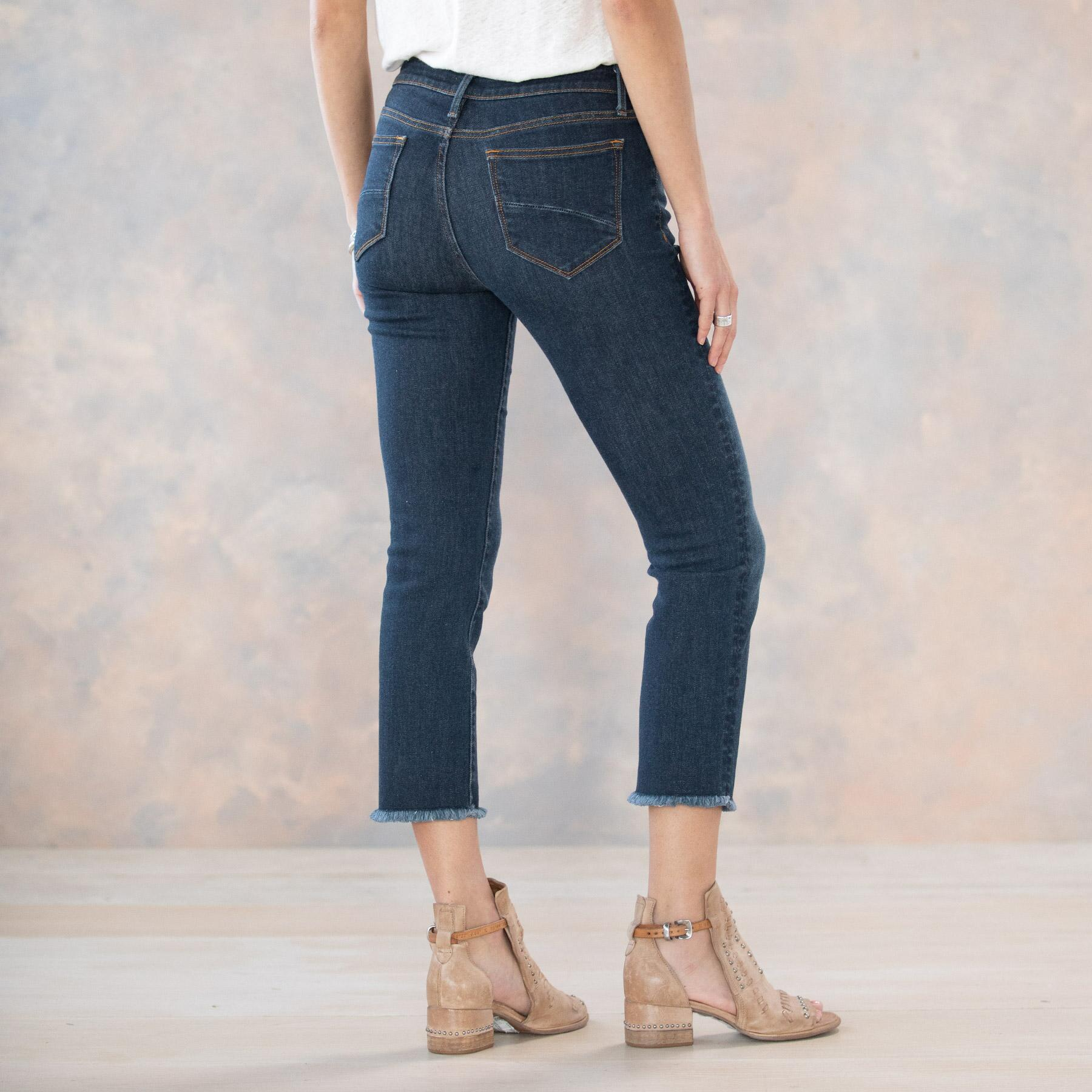 CANDACE BASIC CROP JEANS: View 3