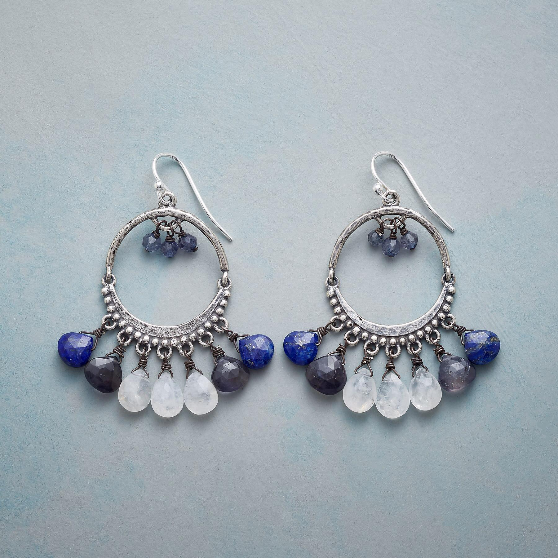 BLUE ECLIPSE EARRINGS: View 1