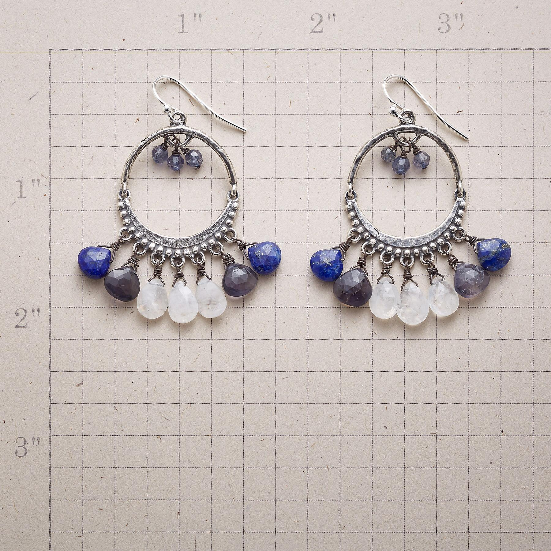 BLUE ECLIPSE EARRINGS: View 2