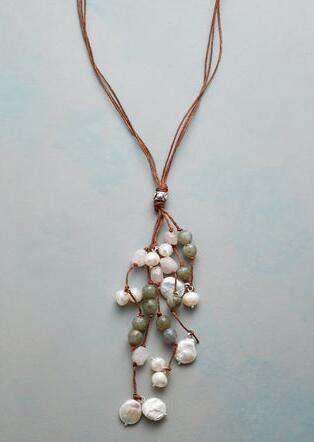 DAPPLED PEARLS NECKLACE