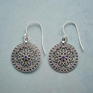 SILVER & BLUE FILIGREE EARRINGS