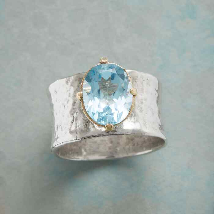 BLUE TOPAZ CHALICE RING