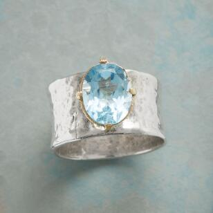 BLUE TOPAZ CHALICE RING