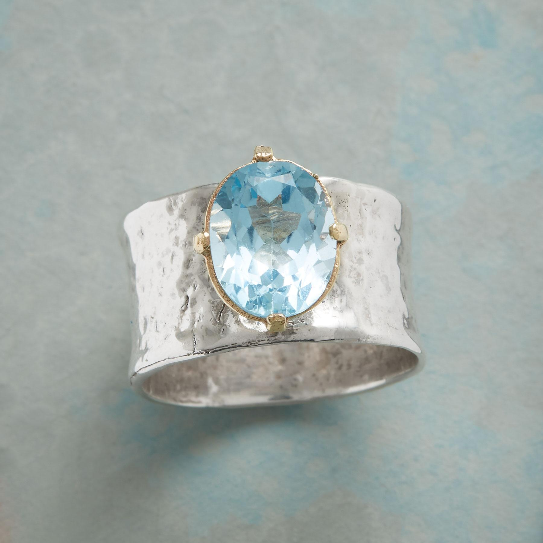 BLUE TOPAZ CHALICE RING: View 1