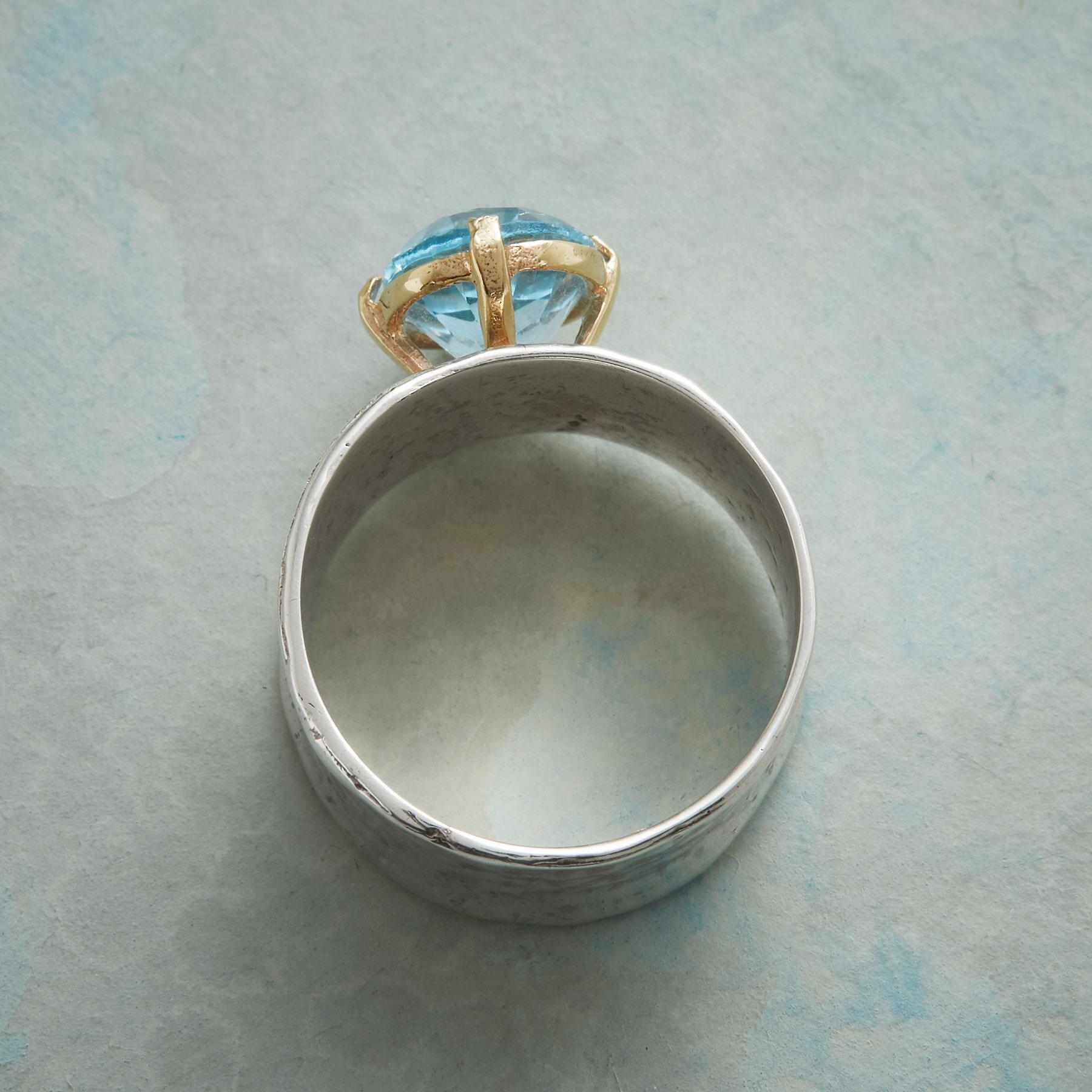 BLUE TOPAZ CHALICE RING: View 2