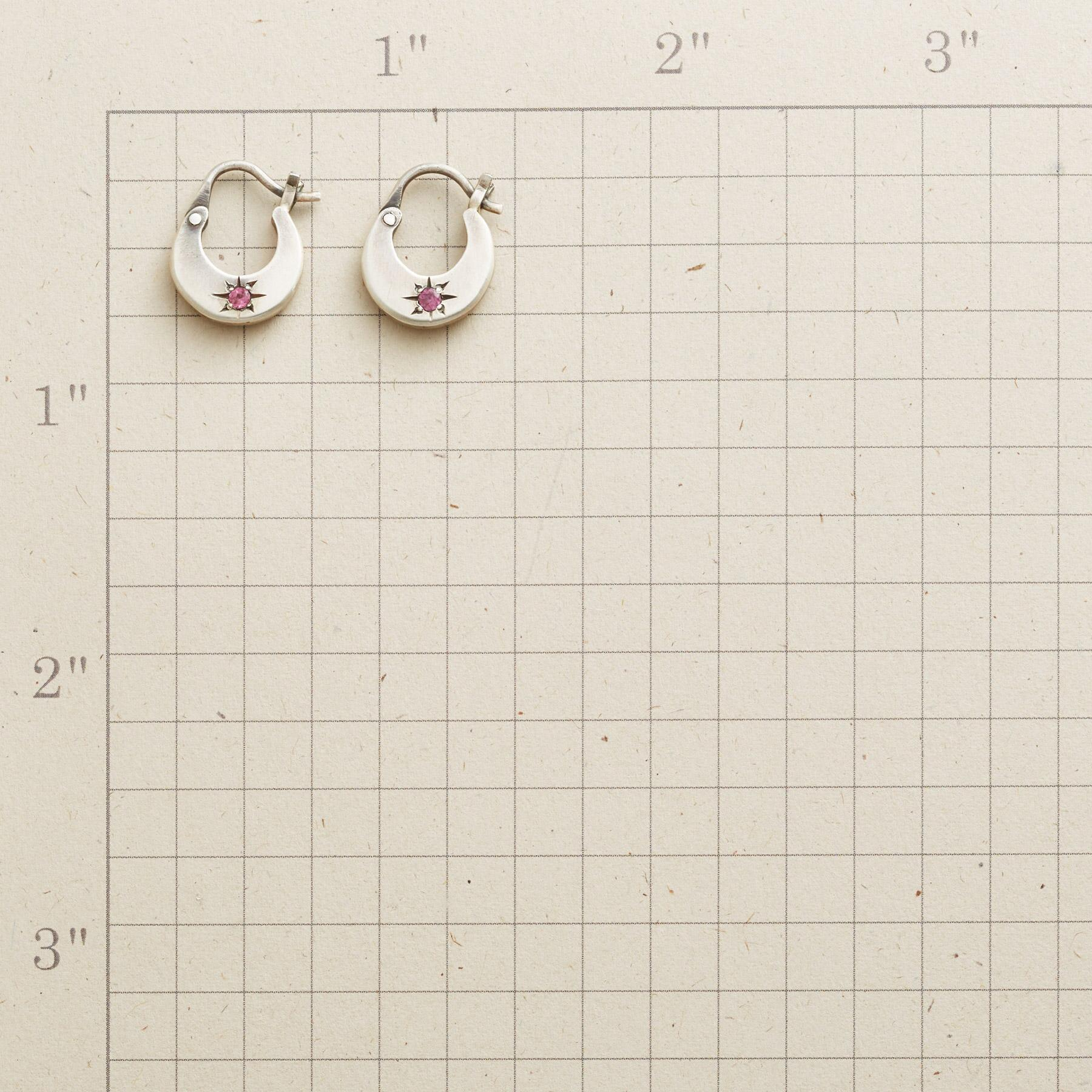 GARNET STARBURST HOOP EARRINGS: View 2
