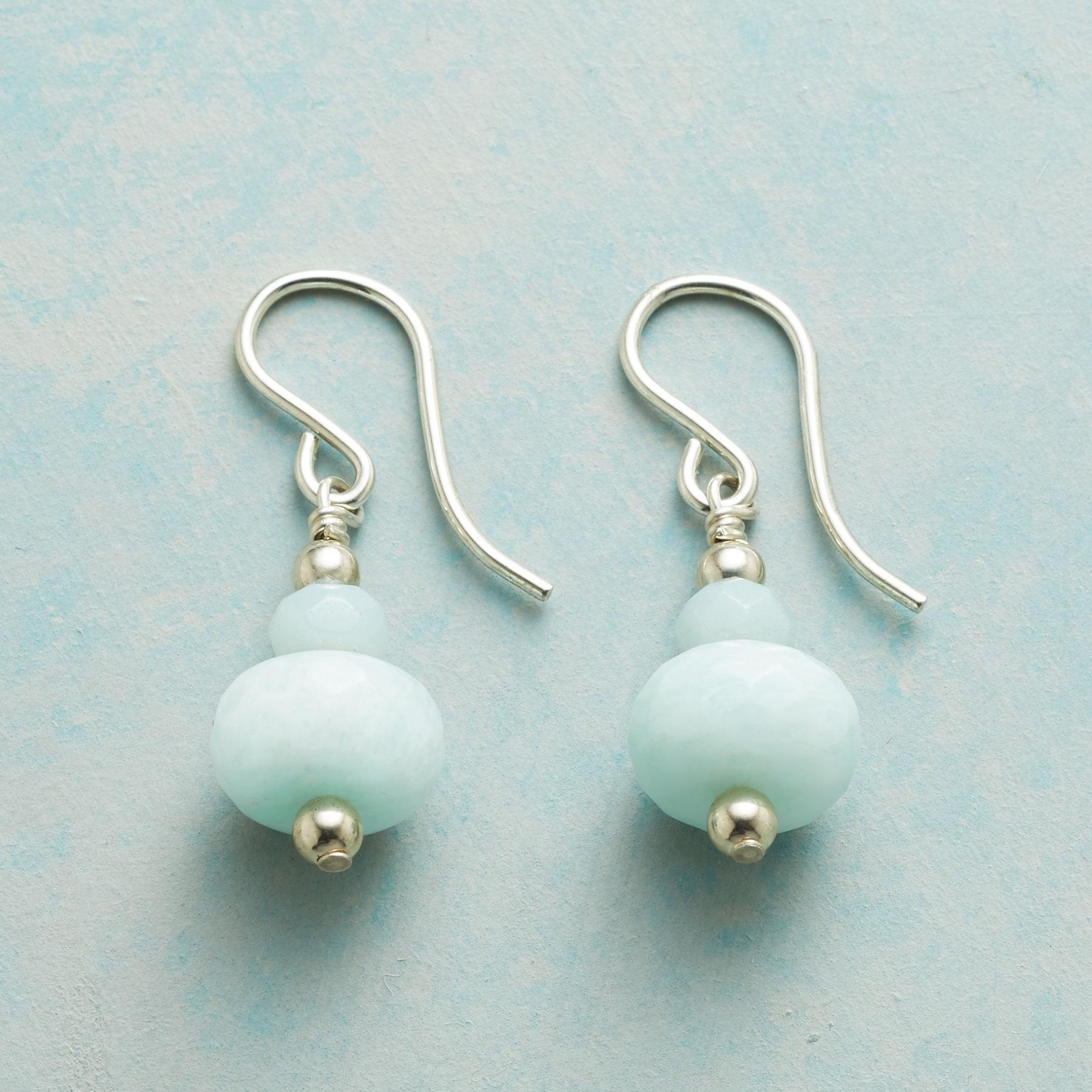 STACKED AMAZONITE EARRINGS: View 1
