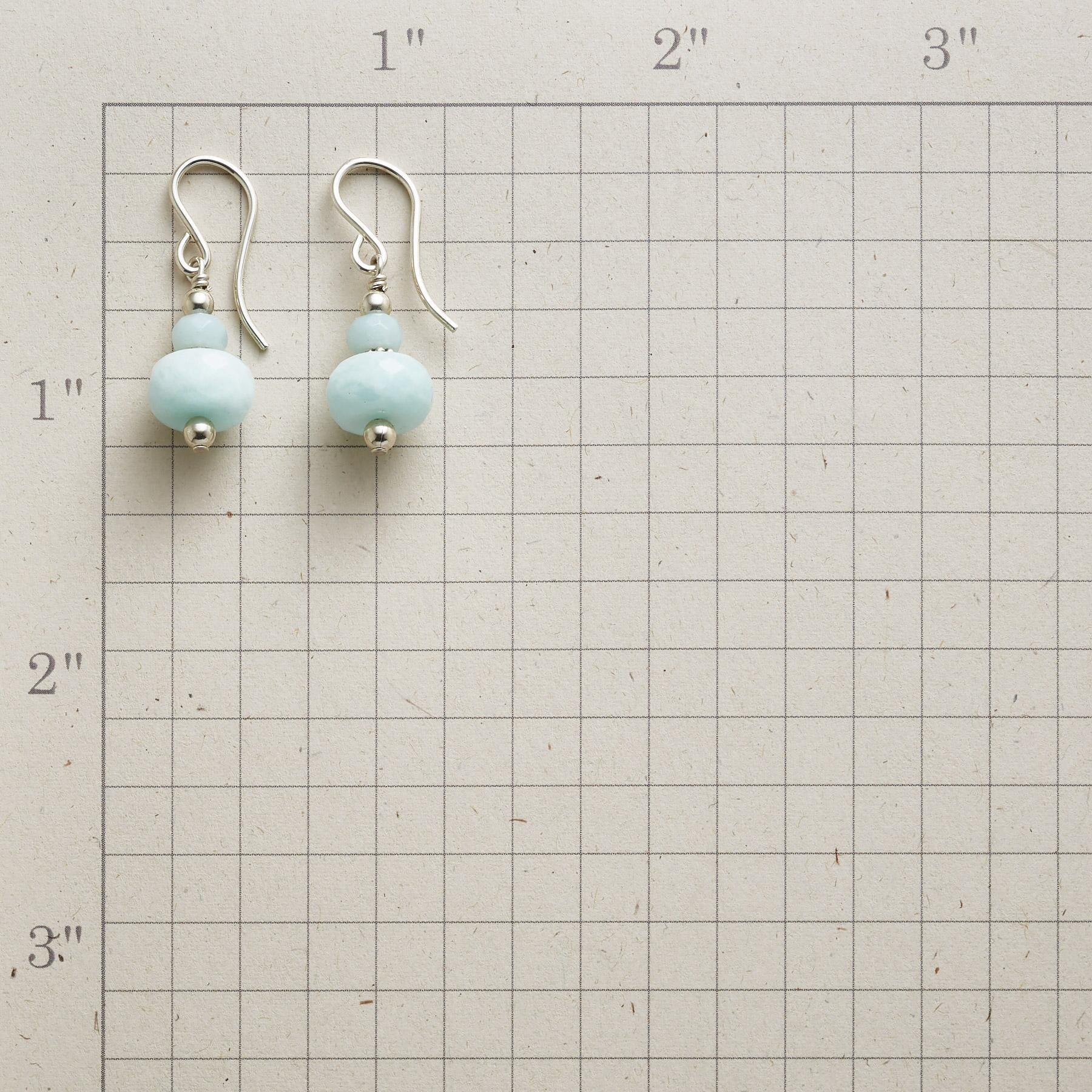 STACKED AMAZONITE EARRINGS: View 2