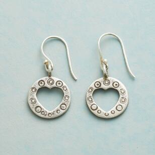 ENCIRCLED HEART EARRINGS