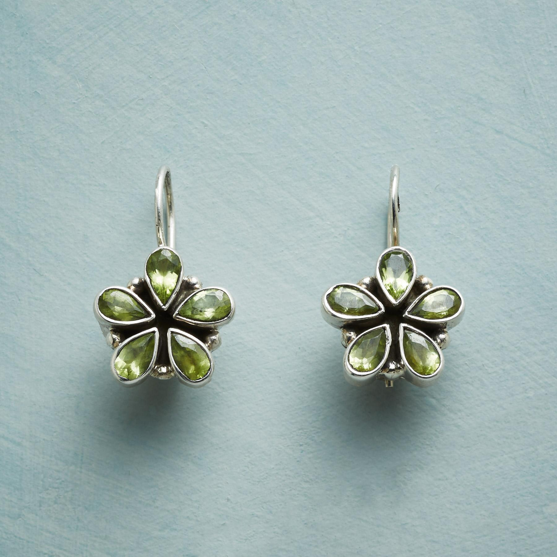 PERIDOT PETAL EARRINGS: View 1