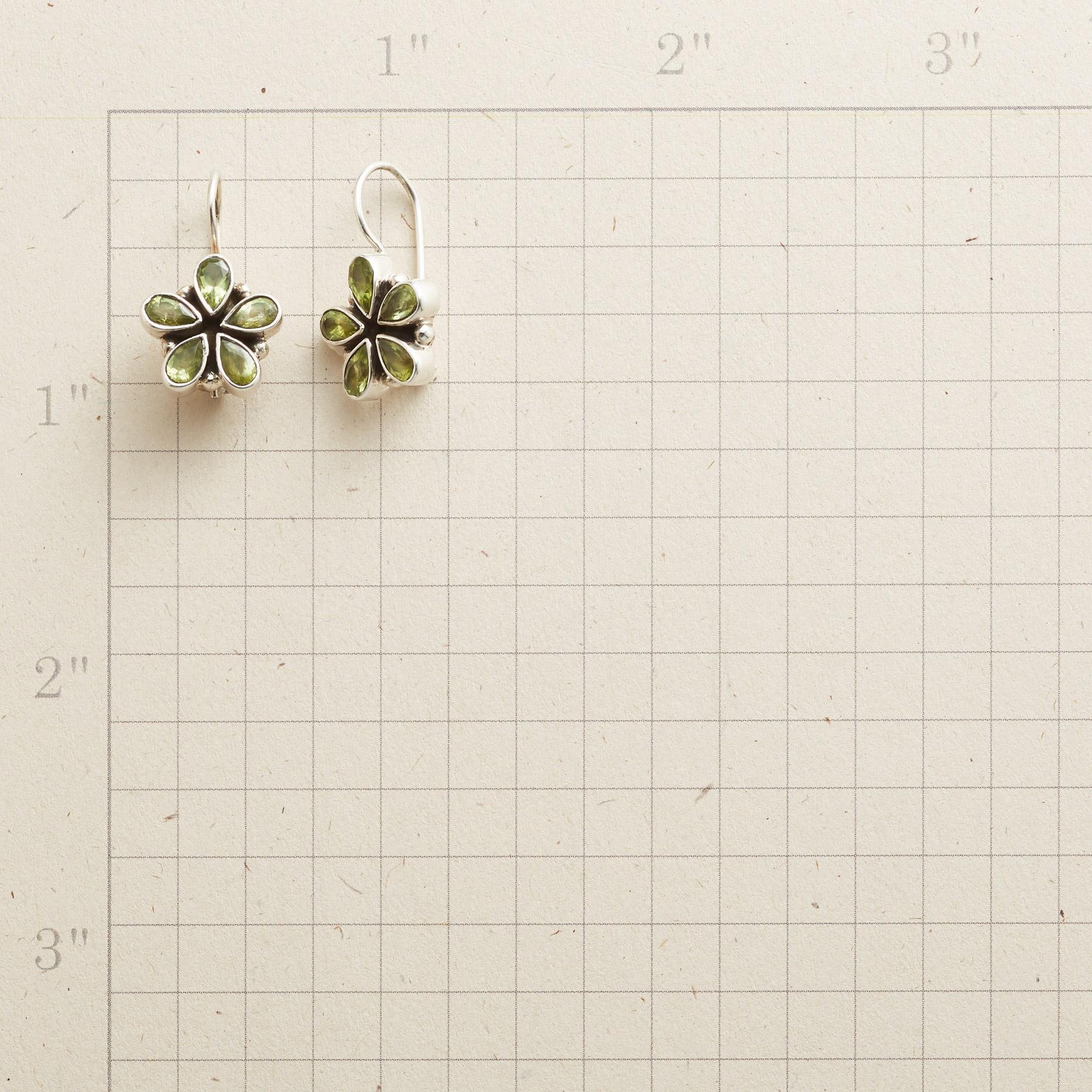 PERIDOT PETAL EARRINGS: View 2