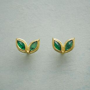 ELEVATED EMERALDS EARRINGS