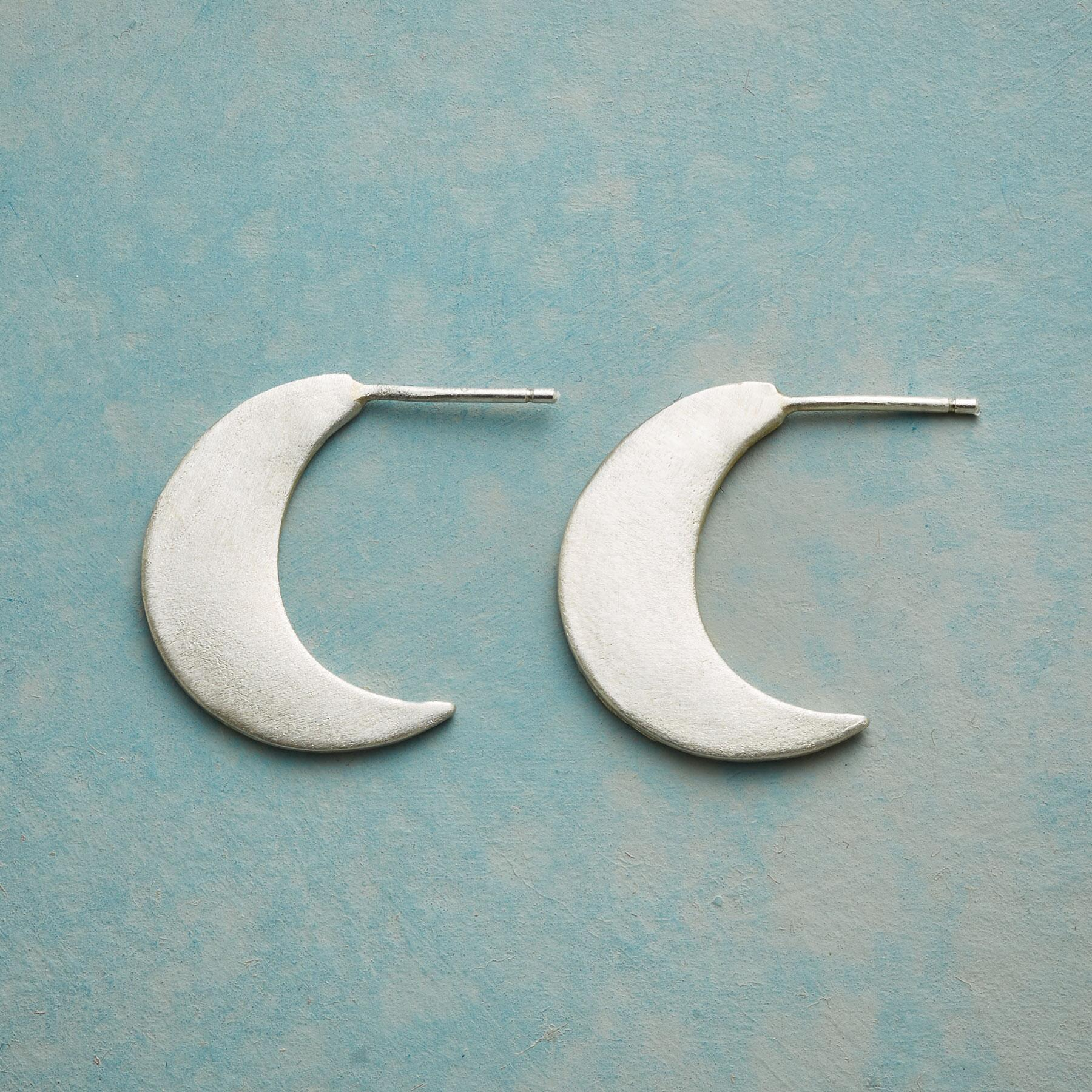 GLOWING CRESCENT MOONS EARRINGS: View 1