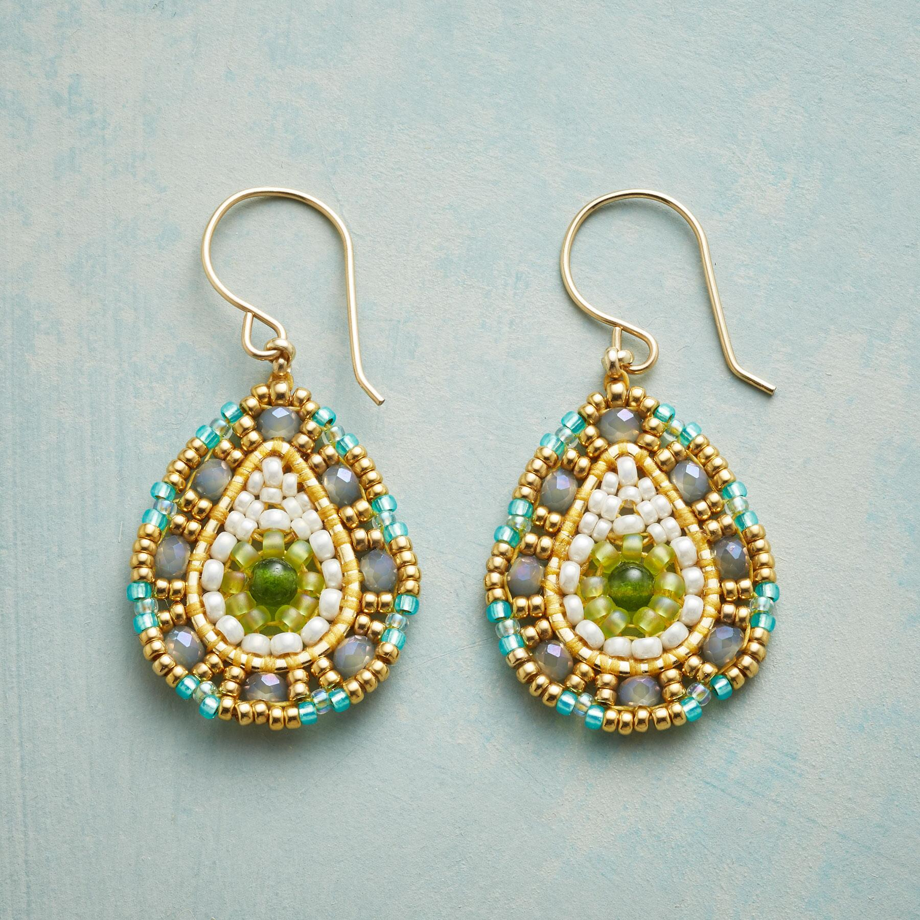 JADE MOUNTAIN EARRINGS: View 1
