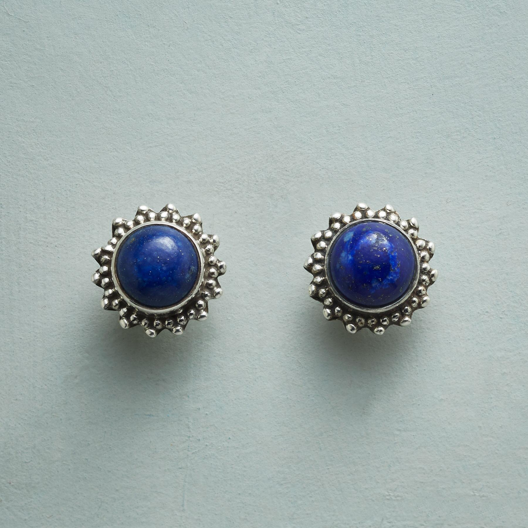 LAPIS DOME EARRINGS: View 1